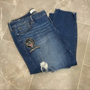 TORRID Boyfriend Distressed Patches Jeans Size 20